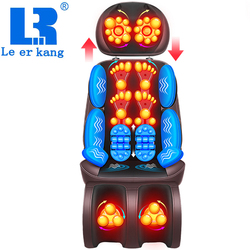 الكهربائية الكامل مقعد تدليك الجسم الرقبة الخلفي الخصر تدليك وسادة الحرارة و يهتز ضمادة مساج كهدية ل زوجة الآباء LEK-918L
