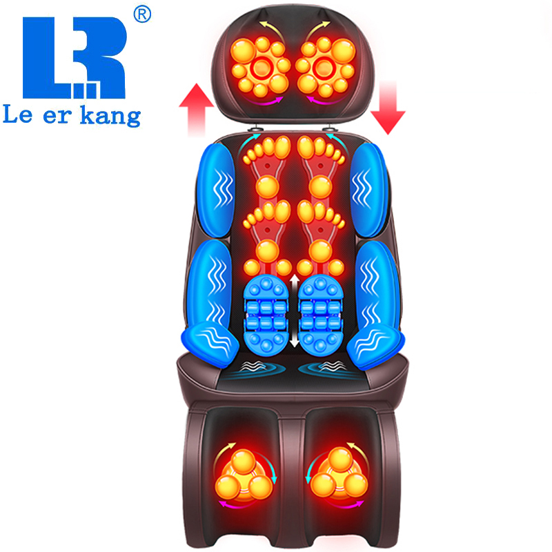 Electric Full Body Massage Chair Neck Back Waist Massage Cushion Heat & Vibrate Massage Pad As A Gift For Wife Parents LEK-918L