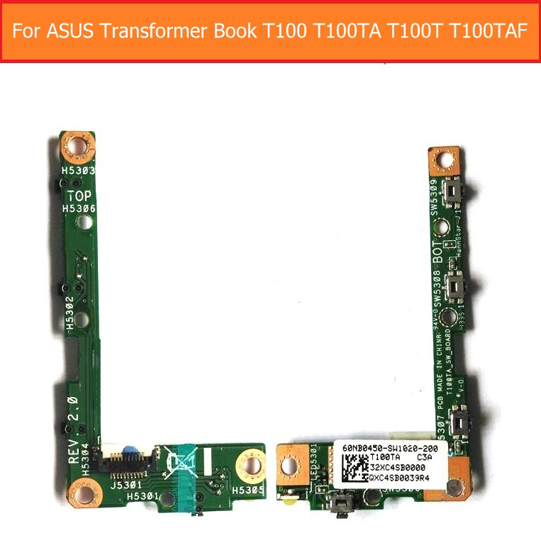 Switch on/off power PCB flex cable For Asus Transformer Book T100 T100TA T100T T100TAF volume flex cable with jack port board new e000 22070 isolation transformer three phase isolation transformer pcb max 500v