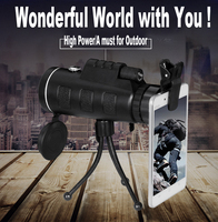 Monocular Telescope Hunting Telescope HD Zooming Adjustable 40x60 Bird Watching Telescope for Hunting Hiking