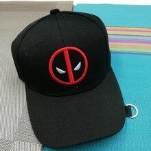 a23e0eac331 Movie Deadpool Super Hero Cap Unisex Adjustable Cosplay Hats Wade Winston  Wilson(China)