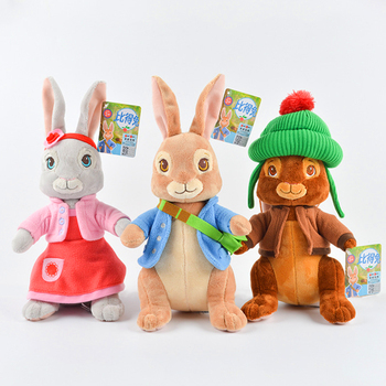 Peter Rabbit 30cm Animal Plush Toy Moive Character Lily Benjamin Sleeping Pillow Kawaii Baby Birthday Gift Toy For Girl Kids