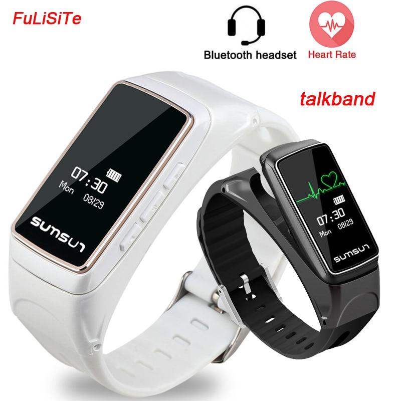 Bande à puce Écouteurs B7 Talkband Bluetooth Oreillette Style Appel Smart Business bande Sommeil Moniteur Musique Intelligente bracelet pour Iphone7