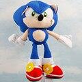 1 ШТ. Бесплатная доставка Плюшевые Игрушки 19 см синий Sonic The Hedgehog Плюшевые Куклы Мягкие Фаршированная Рисунок Куклы Брелок дети Подарок