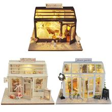 Children Teenager Girlsfriend Gift Creative DIY Miniature Doll House Wooden Handmade Puzzle Toys Wedding