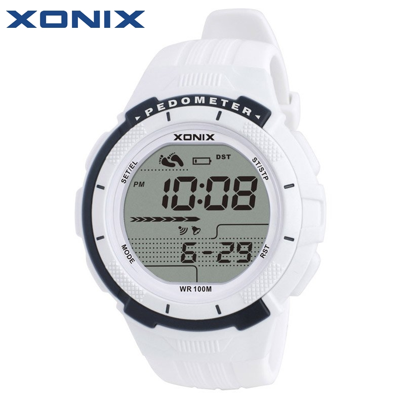 XONIX Pedometer Calories Women Sports Watches Waterproof 100m Digital Watch Running Swimming Diving Wristwatch Montre Femme