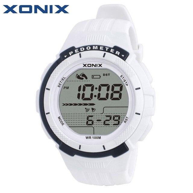 Xonix шагомер калорий Для женщин Спортивные часы Водонепроницаемый 100 м цифровые часы Бег Одежда заплыва дайвинг наручные часы Montre Femme