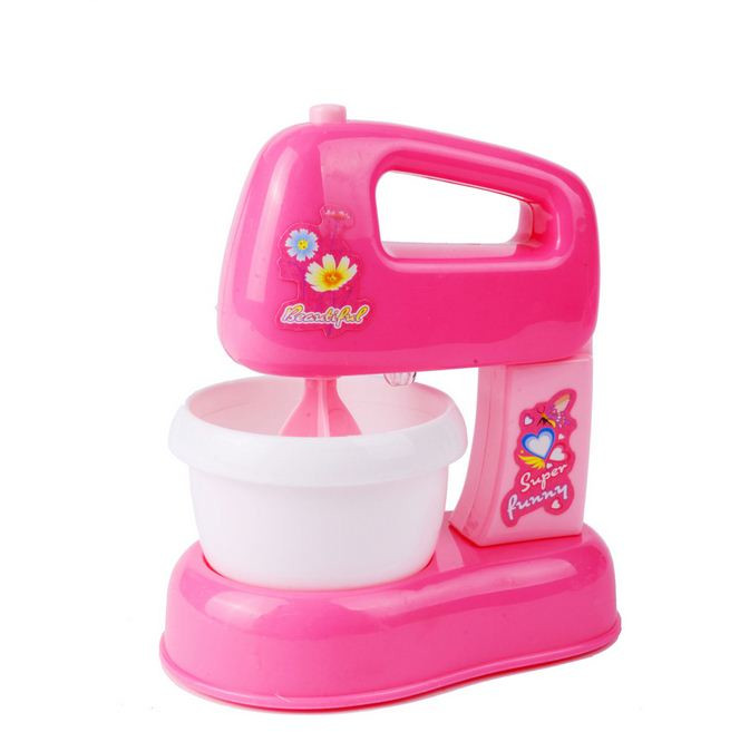 Baby Kitchen Toys Set Children Pretend Play Toy Educational Pink Electric Blender Mixer Toys Playset For Girls 3 Years Gifts