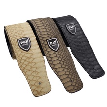 PU Leather Snake Skin Style Man-Made Leather Invironmental Guitar Strap Electric Guitar Acoustic Guitar Folk Guitar Bass Strap