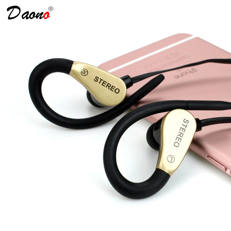 Daono A3 Sport Headphone Earphone Running Sweatproof Stereo Bass Music Headset With Mic For All Mobile Phone High quality Bass fonge sport headphones earphones with mic running stereo bass music headset for all mobile phone