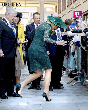 Lace Mother of the Bride Dresses 2019 Vintage Square Knee Length Short Sleeves vestido de madrinha farsali Custom Make 4
