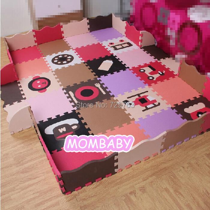 Pcs Set Eva Foam Play Mat Baby Puzzle Floor Mats Fences Carpet Pad Toys For Ren Cartoon