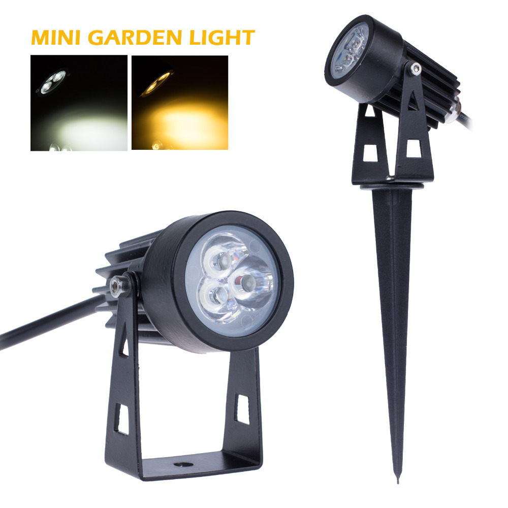 huge discount 21461 7c926 US $5.99 45% OFF|3*1W AC85 265V Mini Led Garden Light IP65 Waterproof  Wram/Cold Color Outdoor Decorate Lawn Lamp Flood Light With Wedge  Freeship-in ...