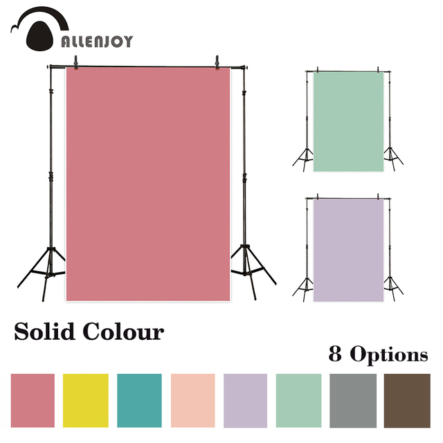 Allenjoy solid color Vinyl photography backdrop pure color backgrounds for photo studio photobooth photocall photo shoot cloth