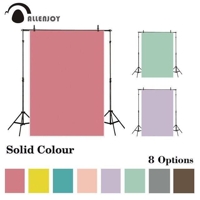 Allenjoy מוצק צבע ויניל צילום רקע טהור צבע ילדי רקעים עבור תמונה סטודיו תא צילום שיחת וידאו Photophone