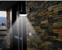 10 pcs / lot Solar Powered 16 LED Outdoor Lighing Lamp/ Wall Light Ray/Sound Sensor Energy-saving Garden LEDs fedex