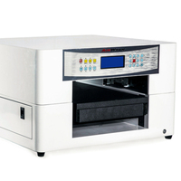 China manufacture A3 size digital led uv printing machine  automatic printer with 3d embossed effect