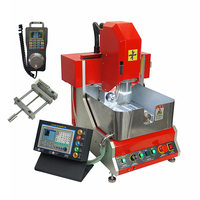 800W 4 Axis CNC Router Jewelry Engraving Machine Off line Controller Working Function