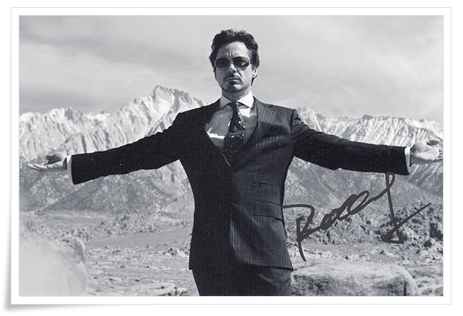 Robert Downey Jr. autographed signed original photo 4*6 inches collection freeshipping 01.2017 01