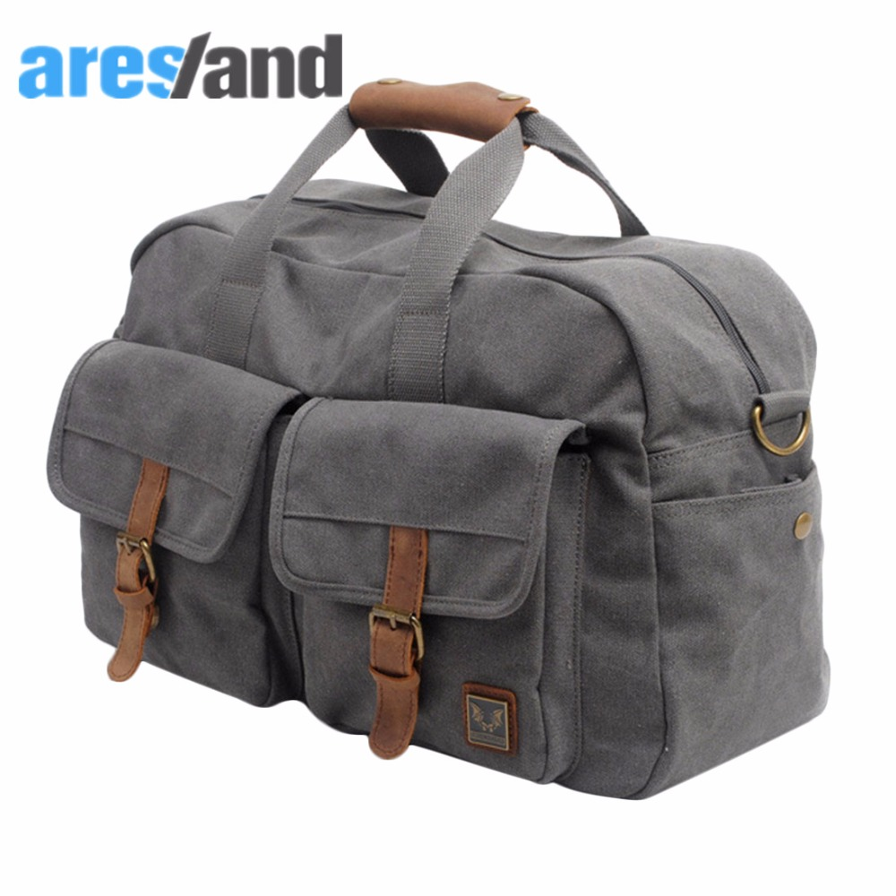 Aresland 2017 Canvas Large Capacity Travel Bag for Women Men Duffle Bags Lady Shoulder Bag Foldable Luggage High quality купить