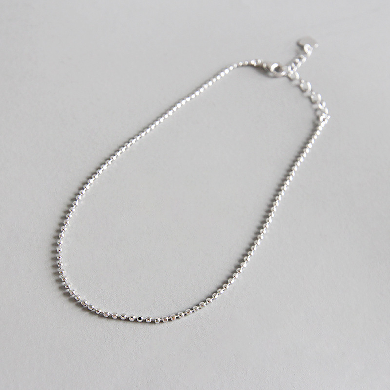 Self-Conscious 1.4mm So Thin Slim Authentic 925 Sterling Silver Round Lucky Ball Chain Anklet Bracelet Adjust Fine Jewelry Tls129 Great Varieties Jewelry & Accessories Fine Jewelry