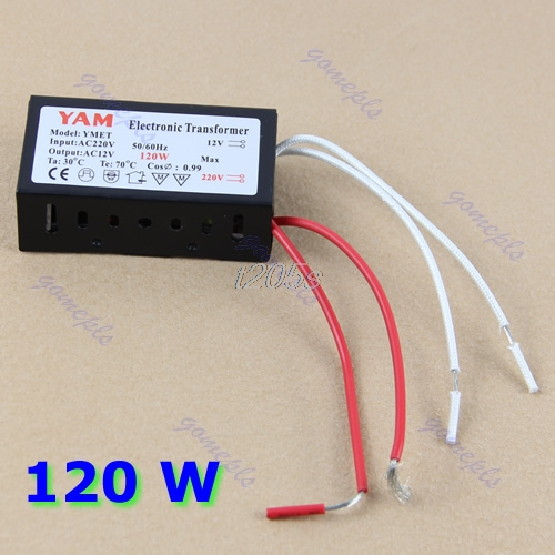 <font><b>120W</b></font> 220V Halogen Light LED Driver Power Supply Converter <font><b>Electronic</b></font> <font><b>Transformer</b></font> T25 Drop ship image