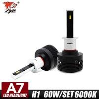 LYC Car Headlight LED H1 H7 72W Lamp Headlamp 2X 4200LM Car H7 HeadLamps White 6000K