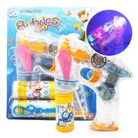 Water Blowing Bubble Gun Toys Soap Bubble Blower Machine Toys For Kids Children Outdoor Creative Cartoon Animal Light Gift