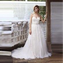 Querida vestido de noiva 2019 vintage com cinto vestidos de casamento sem costas vestido de noiva