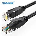 SAMZHE Ethernet Cavo cat6 Rete lan via cavo CAT 6 RJ45 Networking Ethernet Patch Cord Cavo per ps4 xbox PC Router Portatile 5 m 10 m 15 m