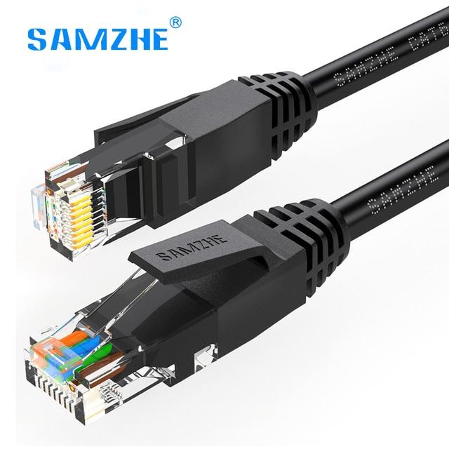 SAMZHEสายอีเธอร์เน็ตcat6เครือข่ายสายlan RJ45สำหรับps4 x box PC R Outerแล็ปท็อป1เมตร1.5เมตร2เมตร3เมตร5เมตร8เมตร10เมตร12เมตร15เมตร20เมตร25เมตร30เมตร40เมตร