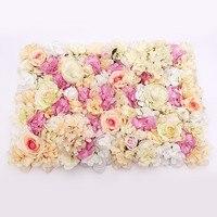 DIY Artificial Rose Flower Heads Silk Decorative Flower Hotel Background Wall Decor Wedding Flower Bouquet