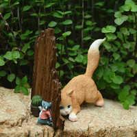 2019 Mini Mäuse und Katze Harz Figuren für Wohnkultur Mäuse Maus Ratte Ornamente Miniatur Fee Garten Tier dekoration geschenke