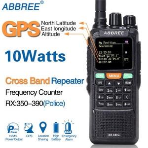 Image 1 - ABBREE AR 889G GPS SOS 10W 999CH Chéo Ban Nhạc Repeater Đêm Đèn Nền Trị Ban Nhạc 134 174/400 520/350  390 Mhz (RX) tai nghe Bộ Đàm