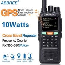 ABBREE AR 889G GPS SOS 10W 999CH Çapraz Bant Tekrarlayıcı Gece Aydınlatması Tri Band 134 174/400 520/350  390MHz (RX) radyo Walkie Talkie