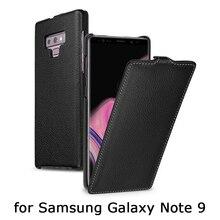 עסקי Flip מקרי כיסוי עבור Samsung Galaxy הערה 9 מקרה יוקרה אמיתי עור טלפון מעטפת תיק עבור Fundas גלקסי 9 אופנה