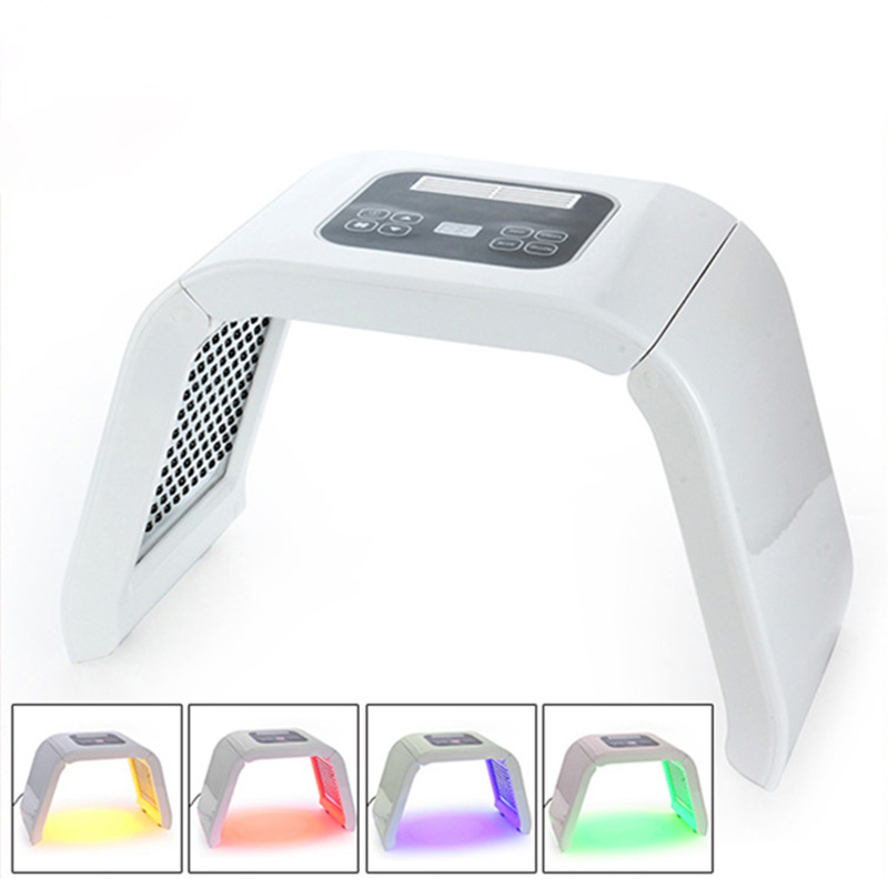 Popular 4 or 7 Color LED Photon Equipment LED Facial Mask Anti Acne Wrinkle Remover Skin Rejuvenation Beauty in Face Skin Care Tools from Beauty Health