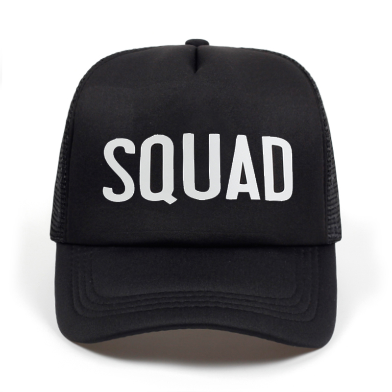 Aliexpress.com   Buy BRIDE SQUAD Hat Snapback Caps Hip Hop Branded Baseball  Mesh Cap Wedding Party Black Letter Adjustable Woman print golf Hats from  ... 3bc1dbe92e48