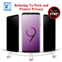 3D Voll Curved Anti Spy Gehärtetem Glas für Samsung Galaxy S20 S10 S9 S8 Plus Hinweis 8 9 10 Plus schützen Privatsphäre Screen Protector