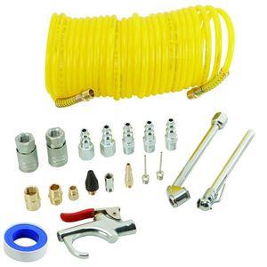 Image 1 - 20 Stuk Hot Koop Air Compressor Accessoire Kit Inclusief 25ft Recoil Luchtslang Blow Gun & Tyre Quick Connector/Pneumatische Tool