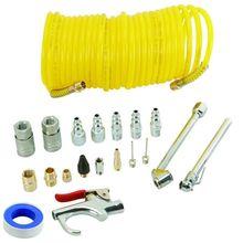 20 peça venda quente compressor de ar acessório kit inclui 25ft recoil pistola de ar mangueira de ar & pneumático conector rápido/ferramenta pneumática