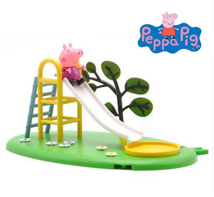 2018 Genuine Peppa Pig outdoor Playground Peppa pig playground/park Playset slide with Peppa Pig action figure