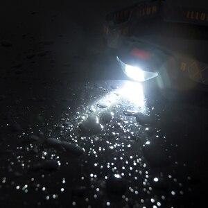 Image 4 - Anyigedeju mini lâmpada de cabeça 3 modos à prova dwaterproof água cob led lanterna farol tocha com cabeça uso aa bateria