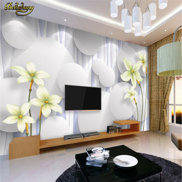 Beibehang custom white ball flowers photo mural wallpaper for walls beibehang custom white ball flowers photo mural wallpaper for walls 3 d living room bedroom papel mightylinksfo