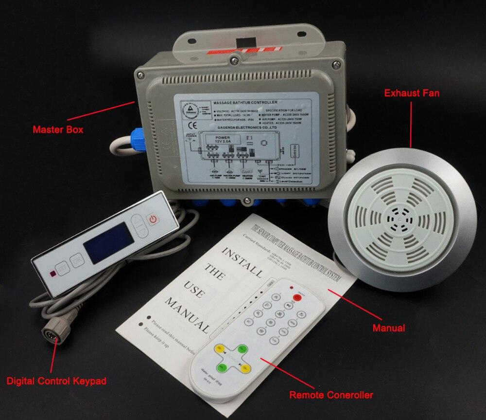 massage bathtub system,whirlpool controller include keypad 220V 110V ...