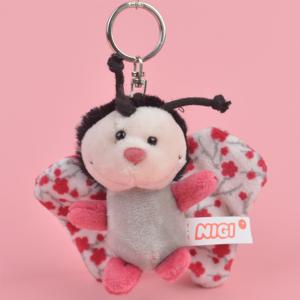 3 Pcs bee butterfly Insect Small Plush Pendant Toy, Kids Doll Keychain / Keyholder Gift Free Shipping