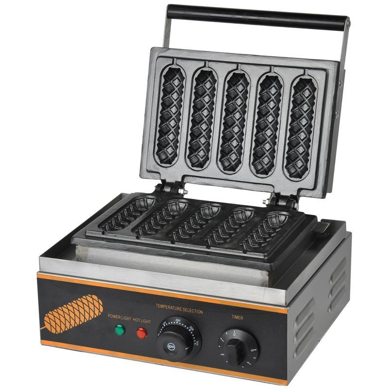 Karsta pārdošana 110V / 220V komerciālai izmantošanai ar elektrisko Lolly vafeļu automātu