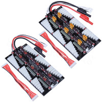 XT60 / T Plug Deans Lipo Battery Charger 2 8S Parallel Balanced Charging Board Plate for Imax B6AC PL6 PL8 720i Lithium Pack