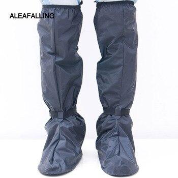 AIeafalling велосипедные туфли покрытия Водонепроницаемый ветрозащитные непромокаемые сапоги черный Чехлы для обуви многократного применения ...