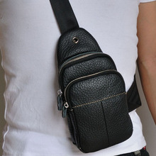Men's Genuine Leather Casual Fashion Waist Pack Chest Bags Men fashion Travel Shoulder Messenger Bag Sling Chest Bags